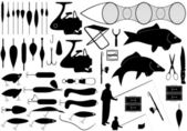 Fishing tools — Stock Vector
