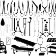 Stock Vector: Medical tools