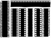 Broken grunge filmstrip vector — Stock Vector