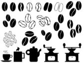 Coffee beans vector — Stock Vector