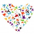 Royalty-Free Stock Vector Image: Paper bird heart