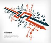 Communication network — Stock Vector
