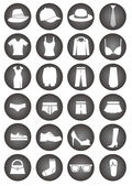 Dressing icons — Vector de stock
