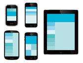 Mobile webseiten-design — Stockvektor