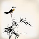 Fågel målning — Stockvektor