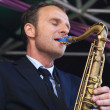 Jeroen vGenuchten plays tenor sax — Stock Photo #12745274