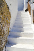 Old steps in Matala on Crete — Stock Photo
