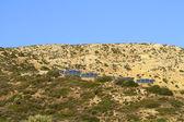 Solar panels on a hill on Crete — Stock Photo