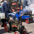 Miniature steam locomotive on show — Stock Photo