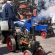Miniature steam locomotive on show - Stock Photo