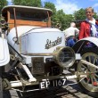 Old timer steam car on display - Stock Photo