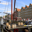 Steam festivities on Wolwevershaven harbor — Stock Photo #12764244