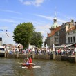 Festival visitors on the Groot Hoofd - Stock Photo