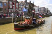 Ship, Jan de Sterke leaving harbor — Stock Photo