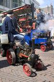 Miniature steam locomotive on show — Stock Photo