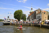 Festival visitors on the Groot Hoofd — Stock Photo
