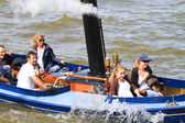 Steam boat ride on the river — Stock Photo