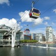 Visitors travel on the Emirates cable car — Stock Photo #13279083