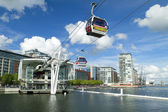 Visitors travel on the Emirates cable car — Stock Photo