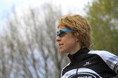 Ruth van der meijden a contender in the dualthlon — Stock Photo