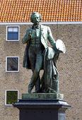 Statua in bronzo dell'artista ary scheffer — Foto Stock