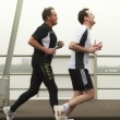 Stock Photo: DORDRECHT, THE NETHERLANDS - APRIL 3 2011: runners feeling p