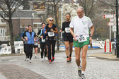 DORDRECHT, THE NETHERLANDS - APRIL 3 2011: runners in — Stock Photo