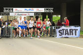 DORDRECHT, THE NETHERLANDS - APRIL 3 2011: runners at the start — Stock Photo
