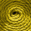 Coiled ships rope — Stock Photo