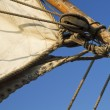 Stock Photo: Details of old sailing ship