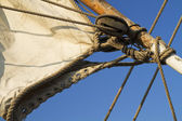 Details of an old sailing ship — Stock Photo