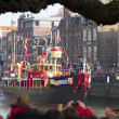 Stock Photo: Boat of Saint Nicolas arrives in harbor of Dordrecht