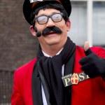 Pietertjepost the postman of Saint Nicolaas showing a thumbs up — Stock Photo