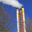 Stock Photo: Incinerator chimney emitting smoke