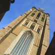 Clock tower of Dordrecht cathedral, Holland — Stock Photo