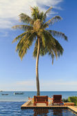 Swimming pool by the sea in Thailand — Stock Photo