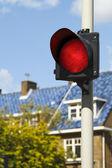 Zářivě červená značka stop — Stock fotografie