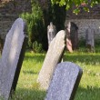 Sunny graveyard in England — Stock Photo