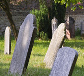 Sunny graveyard in England — Stock Photo
