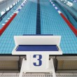 Stock Photo: Starting block position number three