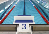 Starting block position number three — Stock Photo