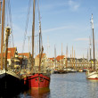 Stock Photo: Tall ships in Alkmaar harbour