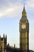 Big Ben in a golden haze — Stock Photo