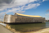 Full size wooden replica of Noah's Ark — Stock Photo