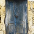 Royalty-Free Stock Photo: Old ruin with blue doors