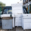 Beehives in the back of a truck — Stock Photo