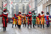 Dancers dressed as Zwarte Piet — Stock Photo