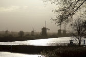 Kinderdijk early morning — Stock Photo