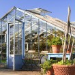 Stock Photo: Greenhouse in garden VillAusustus
