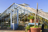 Greenhouse in garden Villa Ausustus — Stock Photo